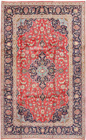 Keshan Rug 200X325 Authentic  Oriental Handknotted Dark Purple/Light Pink (Wool, Persia/Iran)