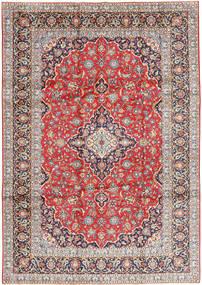 Keshan Teppe 245X350 Ekte Orientalsk Håndknyttet Lys Grå/Lysbrun (Ull, Persia/Iran)
