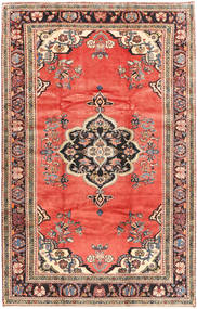 Hamadan Rug 218X341 Authentic  Oriental Handknotted Light Brown/Orange (Wool, Persia/Iran)