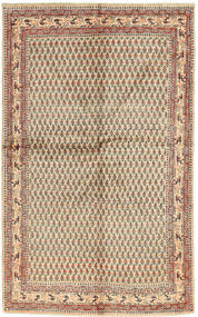 Sarough Mir Matta 127X200 Äkta Orientalisk Handknuten Ljusbrun/Mörkbrun (Ull, Persien/Iran)