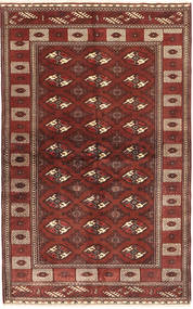 Turkaman Rug 132X220 Authentic  Oriental Handknotted Dark Red/Brown (Wool, Persia/Iran)