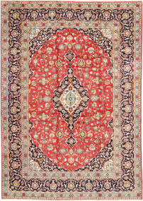 Keshan Rug 260X377 Authentic  Oriental Handknotted Light Brown/Light Grey Large (Wool, Persia/Iran)