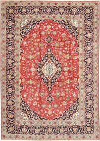 Keshan Matta 260X377 Äkta Orientalisk Handknuten Ljusbrun/Ljusgrå Stor (Ull, Persien/Iran)