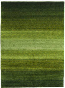 Gabbeh Rainbow - Green Rug 210X290 Modern Dark Green/Olive Green (Wool, India)