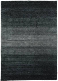 Gabbeh Rainbow - Grey Rug 5′3″x7′7″ Modern Black/Dark Grey (Wool, India)