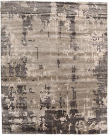 Nepal Original Rug 244X305 Authentic  Modern Handknotted Light Grey/Light Brown (Wool/Bamboo Silk, Nepal/Tibet)