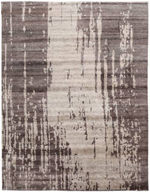 Nepal Original Rug 277X361 Authentic  Modern Handknotted Light Grey/Dark Grey Large (Wool/Bamboo Silk, Nepal/Tibet)