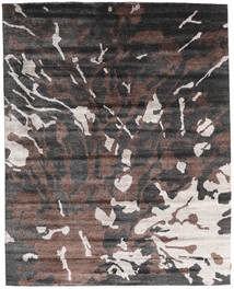 Nepal Original Rug 240X301 Authentic  Modern Handknotted Dark Grey/Dark Brown (Wool/Bamboo Silk, Nepal/Tibet)