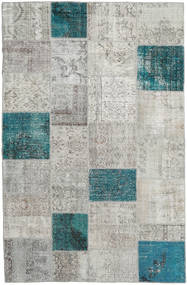 Patchwork Rug 196X303 Authentic  Modern Handknotted Light Grey/Dark Grey (Wool, Turkey)