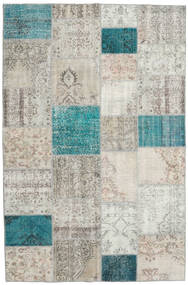Patchwork Rug 198X303 Authentic  Modern Handknotted Light Grey/Dark Beige (Wool, Turkey)