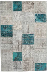 Patchwork Rug 200X303 Authentic  Modern Handknotted Light Grey (Wool, Turkey)