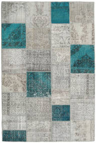 Patchwork Rug 200X301 Authentic  Modern Handknotted Light Grey (Wool, Turkey)