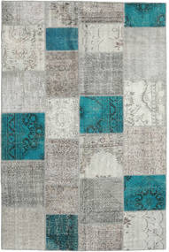 Patchwork Rug 197X296 Authentic  Modern Handknotted Light Grey/Turquoise Blue (Wool, Turkey)