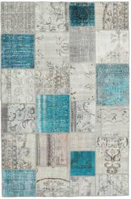 Patchwork Rug 198X302 Authentic  Modern Handknotted Light Grey/Blue (Wool, Turkey)