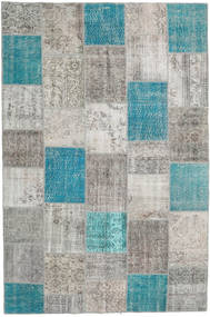 Patchwork Rug 200X300 Authentic  Modern Handknotted Light Grey/Turquoise Blue (Wool, Turkey)