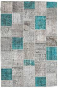 Patchwork Tapis 200X300 Moderne Fait Main Gris Clair/Bleu (Laine, Turquie)