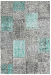 Patchwork Rug 158X232 Authentic  Modern Handknotted Light Grey/Dark Grey (Wool, Turkey)