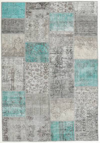 Patchwork Rug 160X231 Authentic  Modern Handknotted Light Grey/Dark Grey (Wool, Turkey)