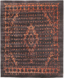 Damask Collection Teppe 254X303 Ekte Moderne Håndknyttet Mørk Brun/Mørk Grå Stort ( India)