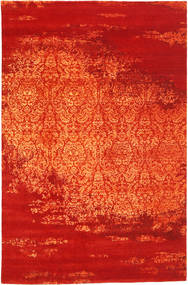 Roma Moderni Collection Tappeto 196X304 Moderno Fatto A Mano Ruggine/Rosso/Arancione ( India)