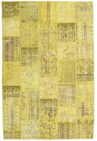 Patchwork Tappeto 198X303 Moderno Fatto A Mano Giallo/Verde Oliva (Lana, Turchia)