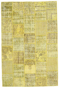 Patchwork Rug 200X301 Authentic  Modern Handknotted Yellow/Olive Green (Wool, Turkey)