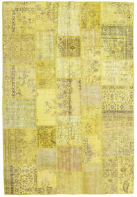 Patchwork Rug 203X299 Authentic  Modern Handknotted Yellow/Olive Green (Wool, Turkey)