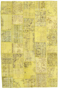 Patchwork Tappeto 199X298 Moderno Fatto A Mano Giallo/Verde Oliva (Lana, Turchia)