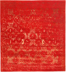 Roma Modern Collection Rug 268X299 Authentic Modern Handknotted Rust Red/Crimson Red Large ( India)
