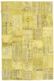 Patchwork Tappeto 197X298 Moderno Fatto A Mano Giallo/Verde Oliva (Lana, Turchia)