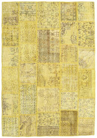 Patchwork Rug 160X232 Authentic  Modern Handknotted Yellow/Olive Green (Wool, Turkey)