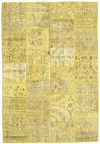 Patchwork Rug 160X233 Authentic  Modern Handknotted Yellow/Olive Green (Wool, Turkey)