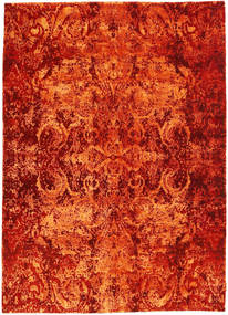 Roma Moderne Collection Tæppe 172X237 Ægte Moderne Håndknyttet Rust/Orange ( Indien)