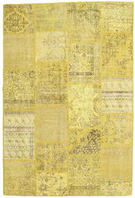 Patchwork Rug 159X238 Authentic  Modern Handknotted Yellow/Olive Green (Wool, Turkey)
