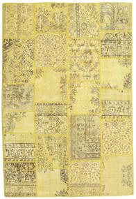 Patchwork Rug 158X236 Authentic  Modern Handknotted Yellow/Olive Green (Wool, Turkey)