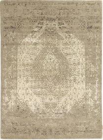 Roma Moderne Collection Tapis 171X239 Moderne Fait Main Gris Clair/Marron Clair ( Inde)