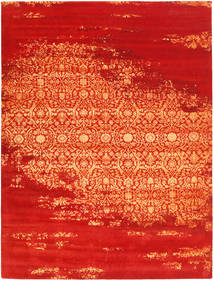 Roma Moderni Collection Matto 274X369 Moderni Käsinsolmittu Ruoste/Oranssi Isot ( Intia)
