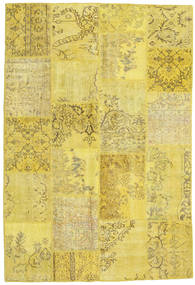 Patchwork Rug 158X232 Authentic  Modern Handknotted Yellow/Olive Green (Wool, Turkey)