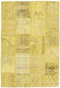 Patchwork Rug 158X236 Authentic  Modern Handknotted Yellow (Wool, Turkey)