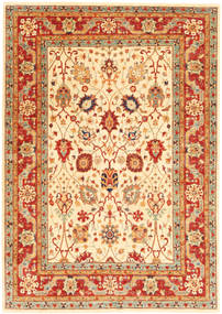 Ziegler Rug 170X241 Authentic Oriental Handknotted Crimson Red/Beige (Wool, Pakistan)