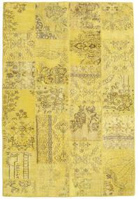 Patchwork Szőnyeg 158X234 Modern Csomózású Sárga/Olívazöld (Gyapjú, Törökország)