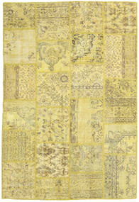 Patchwork Rug 159X234 Authentic  Modern Handknotted Yellow/Olive Green (Wool, Turkey)
