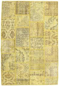 Patchwork Tapete 158X235 Moderno Feito A Mão Amarelo/Verde Azeitona (Lã, Turquia)