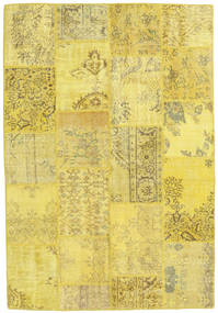 Patchwork Rug 159X230 Authentic  Modern Handknotted Yellow/Olive Green (Wool, Turkey)