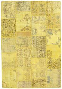 パッチワーク 絨毯 159X230 モダン 手織り 黄色/オリーブ色 (ウール, トルコ)