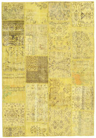Patchwork Rug 159X232 Authentic  Modern Handknotted Yellow/Olive Green (Wool, Turkey)
