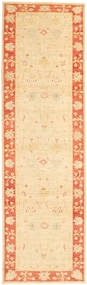 Ziegler Rug 82X297 Authentic  Oriental Handknotted Hallway Runner  Beige/Dark Beige (Wool, Pakistan)