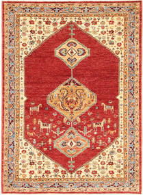 Ziegler Rug 155X215 Authentic  Oriental Handknotted Rust Red/Beige (Wool, India)