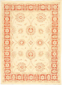Ziegler Rug 167X224 Authentic  Oriental Handknotted Beige/Yellow (Wool, Pakistan)