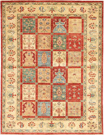 Ziegler Rug 172X235 Authentic  Oriental Handknotted Dark Beige/Crimson Red (Wool, India)